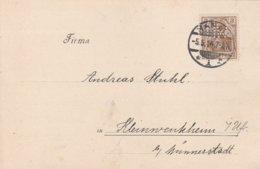 Allemagne Timbre Perforé Perfins Sur Carte Hanau 1914 - Cartas