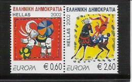 2002 Grece Griechenland  Yv 2096-7  Mi. 2110-1 C  ** MNH  Europa - 2002