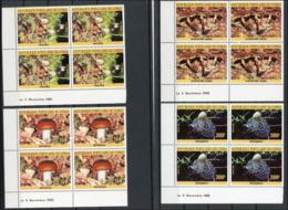 Congo 1985 Mushrooms Champignons Coins Datés  MNH - Paddestoelen