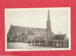CPA - St Philibert  - La Partie De Boules - Place De L'église - Francia