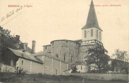 - Charente -ref-B902- Brossac - L Eglise - Carte Bon Etat - - Francia