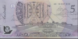 Australia 1992 Polymer $5 AB 10507632 Uncirculated - Emissions Gouvernementales Décimales 1966-...