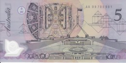Australia 1992 Polymer $5 AA 99705991 Uncirculated - 1992-2001 (Polymer)
