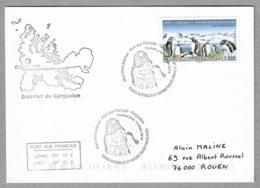 E57 - TAAF - 908 Colonie De Manchots PAPOUS 1ère Date Kerguelen Cachet Illustré 14 Mars 2019 - - Lettres & Documents