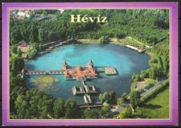 Postcard AK Hungary Spa Heviz Lake Balaton Medicinal Bath World Cultural Heritage - Posted - Hungary