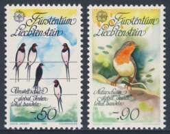 Liechtenstein 1986 Mi 893 /4 YT 834 /5 SG 892 /3 ** Hirundo Rustica + Erithacus Rubecula - Natur- Und Umweltschutz - 1986