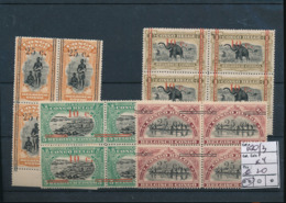 BELGIAN CONGO 1922 ISSUE COB 100/3 BL.OF 4 MNH - Belgisch-Kongo