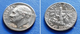UNITED STATES USA 10 Cents (ONE DIME) 1992 P - ROOSEVELT - Bondsuitgaven