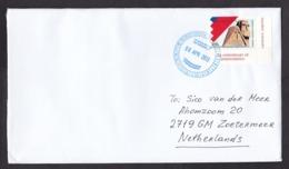 Armenia, Nagorno Karabakh: Cover To Netherlands, 2013, 1 Corner Stamp, Statue, Art, Rare Real Use! (traces Of Use) - Armenië