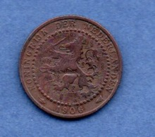Pays Bas  -  1 Cent 1896  -  état  TB - 1 Cent