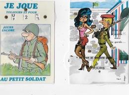 2 CARTES A SYSTEME CALENDRIER De L ' ARMEE - HUM 45 - Humor