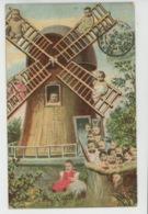 ENFANTS - BEBES - Jolie Carte Fantaisie Bébés Et Moulin - Bébés