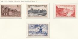 PIA  -  FRANCIA  -  1947  : 12° Congresso Dell' U.P.U. A Parigi - Immagini Della Città  - (Yv  780-83) - France
