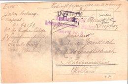 Carte De Prisonnier  De Soltau 1917. - Militaria