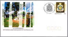75th Anniv. RETURNED & SERVICES LEAGUE OF AUSTRALIA. Canberra 1991 - Militares