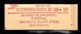 Carnet YT 2220 C5 LIBERTE DE DELACROIX 1,8frs Ouvert Mais Complet CONF 3 - Carnets