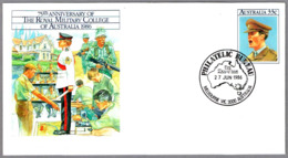 75th Anniv. THE ROYAL MILITARY COLLEGE OF AUSTRALIA. Melbourne 1986 - Militares