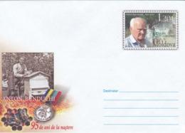 2008 , MOLDOVA  MOLDAVIE  MOLDAWIEN  MOLDAU , A. Bunduchi , Beekeeper , Bees ,  Pre-paid Envelope - Moldova