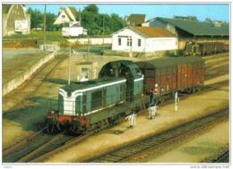 Carte Postale 61. Alençon La Gare  Train De Marchadise  Entrepots De La SERNAM Trés Beau Plan - Alencon
