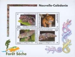 New Caledonia, Snake-lizzards, Geckos, 2003, MNH VF souvenir Sheet Of 4 - Neukaledonien