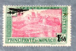 MONACO -- P A N° 1 Surchargé 1,50 F. Sur 5 F. -- Viaduc Sainte Dévote & Port De Monaco - Airmail