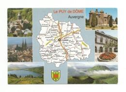 63-Carte Contour Géographique Du Département De PUY  DE DOME - Cartes Géographiques