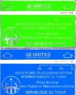 2 TC Telecard Holo OPT République Du Tchad 30U Et 60U - Tsjaad