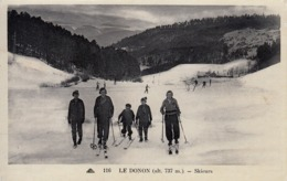 67 - Le Donon : Skieurs - Collection Hôtel Velleda - Carte Photo Neuve - France