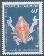 New Caledonia, Crab, Lyreidus Tridentacus, 1990, MNH VF airmail - Unused Stamps