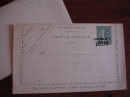 Lot De 7 Carte Lettre Semeuse 15 C Taxe Reduite 0 F 10 Entier Postal - Autres
