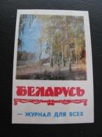 USSR Soviet Russia Pocket Calendar Nature Autumn Magazine Belarus 1974 - Kalenders