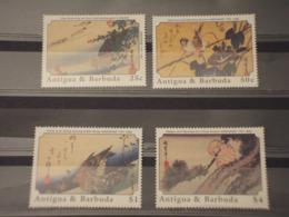 ANTIGUA - 1989 QUADRI/UCCELLI 4 VALORI - NUOVI(++) - Antigua E Barbuda (1981-...)