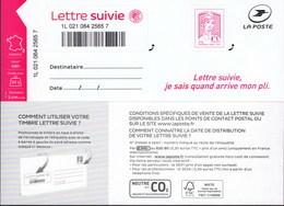 LA LETTRE SUIVIE (LS 4) Type Ciappa, 2ème Tirage 2016. Sans Logo €uro Et Fond Du Timbre En Pointillés. - France