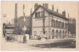 MONTATAIRE. (60) LA GARE.1947. CACHET TAXE Sur GERBE 3 + TRIANGLE T. - Montataire