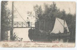 Berlare - Lac Overmeire - Uytbergen - Berlaere - Donck - Pont De Séparation Des Deux Lacs - 1901 - Berlare
