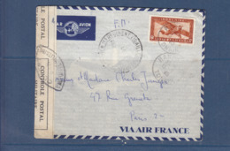 INDOCHINE FM TIRAILLEURS TONKINOIS + CENSURE FRANCAISE - Indochina (1889-1945)