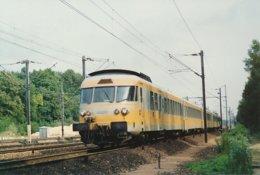 Orry La Ville (60).  Juillet 1990. Une Rame R.T.G. Traverse  La Foret De Chantilly - France