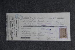 Lettre De Change : CLERMONT FERRAND, ASTEL BONNIEUX, Soiries, Lingerie, Dentelles - Lettres De Change
