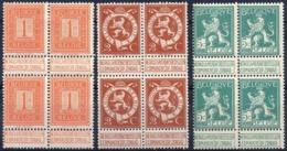 N° 108, 109 Et 110 En Bloc De 4 (neufs Avec Charnère) - 1912 Pellens