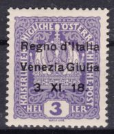 Italy Venezia Giulia 1918 Sassone#1 Mint Hinged - 8. WW I Occupation