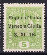 Italy Venezia Giulia 1918 Sassone#2 Mint Hinged - Venezia Giulia