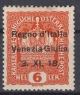 Italy Venezia Giulia 1918 Sassone#3 Mint Hinged - Venezia Giulia