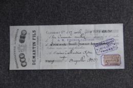 Lettre De Change : CLERMONT FERRAND - DEMARTIN Fils, Manufacture De Lingerie - Lettres De Change