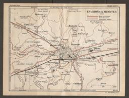 CARTE PLAN 1928 - ENVIRONS DE MUNSTER ROUTES CARROSSABLES FORESTIERES SENTIERS HOHROD HASLACH STOSSWIHR - Topographical Maps