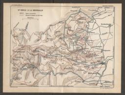 CARTE PLAN 1928 - SAINTE ODILE Et Le HOHWALD - KLINGENTAL BARR BERNHARDSWEILER OTTROCH ANDLAU - Topographical Maps
