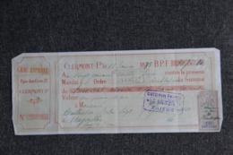 Lettre De Change : CLERMONT FERRAND, GRAU RAPHAEL - Lettres De Change