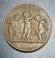 Medaille Frankreich Bronze Offert Par La Cie P.L.M. Alphee Dubois Tasset - Militaria