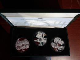 Latvia Lettland 2001 PROOF Silber Münzen - Letonia