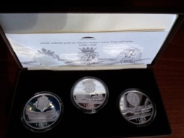 Latvia Lettland 2003-2004 PROOF Silber Münzen - Latvia