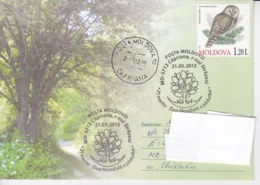 MOLDOVA   MOLDAVIE   MOLDAWIEN  MOLDAU ,  2012 , World Forestry Day , Owls ,  Special Cancell. .Used Cover. - Pflanzen Und Botanik